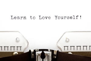 Learn To Love Yourself printed on an old typewriter